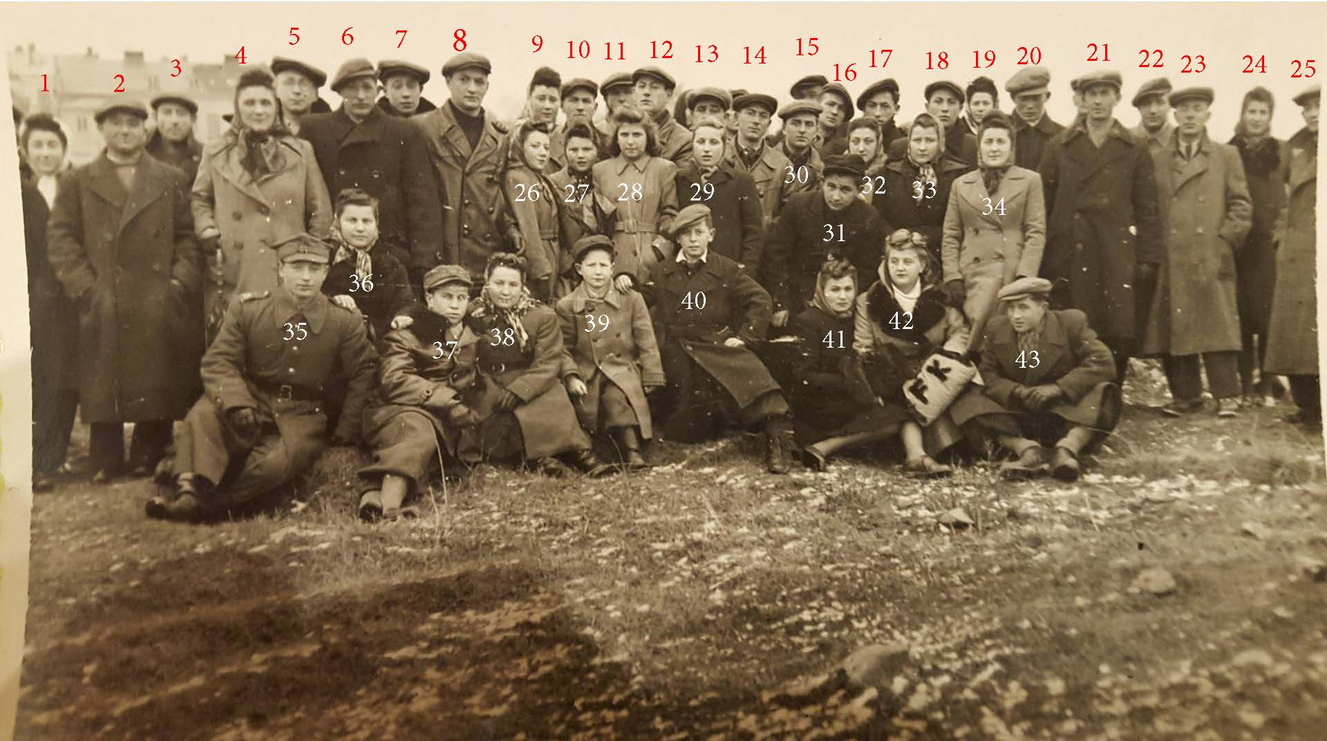 ostrowiec 1945 gathering numbered